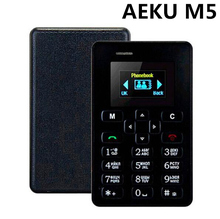 "In stock Original AEKU M5 1.0"" 480*320 Quad Band Kids Card Phone AIEK M5 4.5mm Ultra Thin Mini Cell Phone celulares gifts"