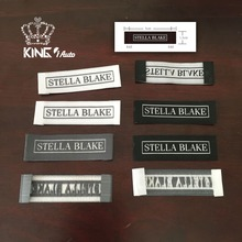 Name brand logo Woven labels / Known embroidered patch tag / cloth tag iron on/ personalized rubber tag / hang tag / free ship(China)