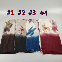 Hot Popular Nice print floral shawl voile bandanas autumn soft  head wraps sjaals islam new hijab muslim viscose scarf/scarves