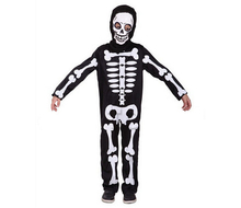 Halloween Carnival Party Costume Game Performance Black Clothing Children's Terror Skeleton Costumes with Cap CO46144155
