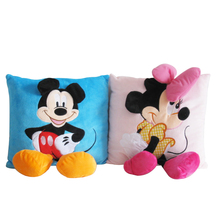 35*35cm Mickey Mouse and Minnie plush Pillow Cushion,Cartoon Mickey Mouse and Minnie Pillow Car Cushion Free Shipping(China)