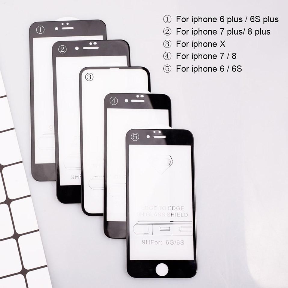 5D Glasses for iPhone 6 6s plus Glass Film Full Cover iphone6 Screen Protector for iPhone 6 6s 7 8 plus x Tempered Glass 3D 4D (12)