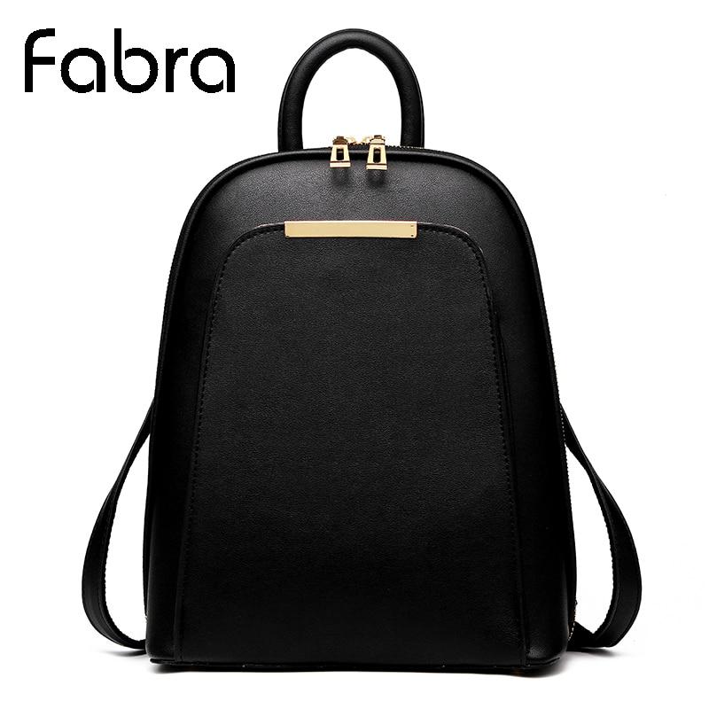 Fabra New Backpack Vintage Women Shoulder School Bags for Teenager Girls Fashion Book Bag Quality Pu Small Women Back Pack Bag<br>