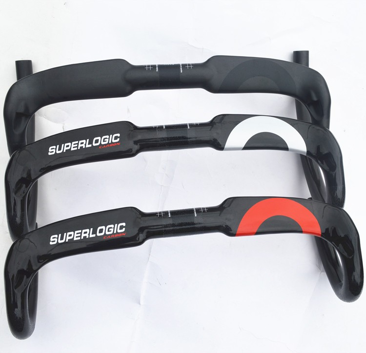 Full superlogic carbon fiber highway bicycle thighed road handlebar bent bar 31.8*400/420/440 inner routing <br>