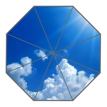 Nice Clouds Blue Sky Umbrella Custom Sunny and Rainy Umbrella Design Portable Fashion Stylish Useful Umbrellas Good Gift