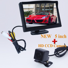 "Rear View Camera Parking 2ch Video 5 "" Tft Lcd Color Camera With 170 Wide Angle HD Night Vision Car Rear View Camera Car parking(China)"