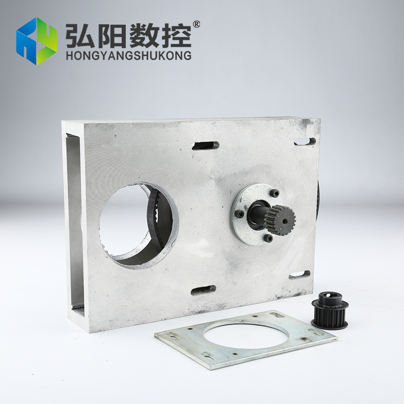 cnc router accessories Straight tooth/helical tooth belt gear box,gear box gear rack and synchronous wheel reducer box<br>