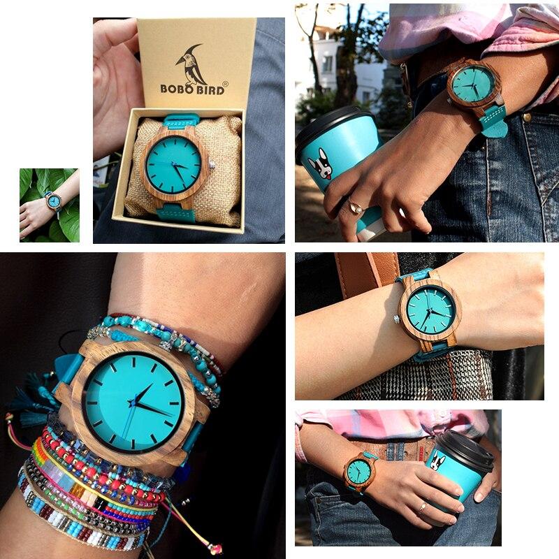 Zegarek drewniany Bobo Bird Lazur C28-1 8