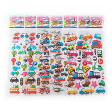5PCS/LOT cartoon car sticker 3D bubble stickers scrapbooking for kids Home decor Diary Notebook Label Decoration toy WYQ(China)