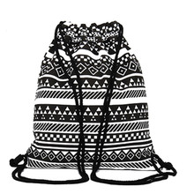 2017 Printed Beam Port Backpack Fashion Canvas Travel Beach Street Bag Reusable Shopping Bag Folk-custom Free Top Quality P392