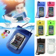2017 Best Quality PVC Durable Waterproof Phone Cases Underwater Phone Protective Pouch For iPhone 4/4S/5 5S/6/6 plus(China)