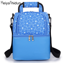 MeiyaShidun Brand Lunch boxes for woman Portable Lunch Picnic Bag Insulated Cooler Bag Thermal food Pouch milk bag bolsa termica