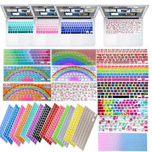 1PC Decal Flower Rainbow Silicone US Keyboard Cover Keypad Skin Protector For Apple Mac Macbook Pro 13 15 17 Air 13 Retina 13(China)