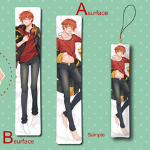 Mystic Messenger 707 Cool Man Male Anime Mini Dakimakura Keychain Pillow Hanging Ornament Phone Strap Gift