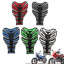 3D Rubber Motorcycle Modified Decal Sticker Gas Oil Fuel Tank Pad Protector Red Blue Green White Grey(China)