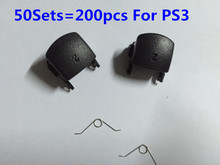 50Sets=200PCS L2 R2 Trigger Controller Gamepad Buttons Repair Parts Replacement For Sony PlayStation 3 PS3 Accessories w/Springs