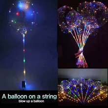 3pcs 18in Led Luminous Balloons Bubble Transparent Balloons Wedding Decoration Glowing Ballon Safe Birthday Party Supplies(China)