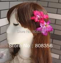 20pcs 10cm Artificial Flowers Orchid Daisy Aztec Dahlia Flower Heads with Pin Barrettes Baby kid hairware
