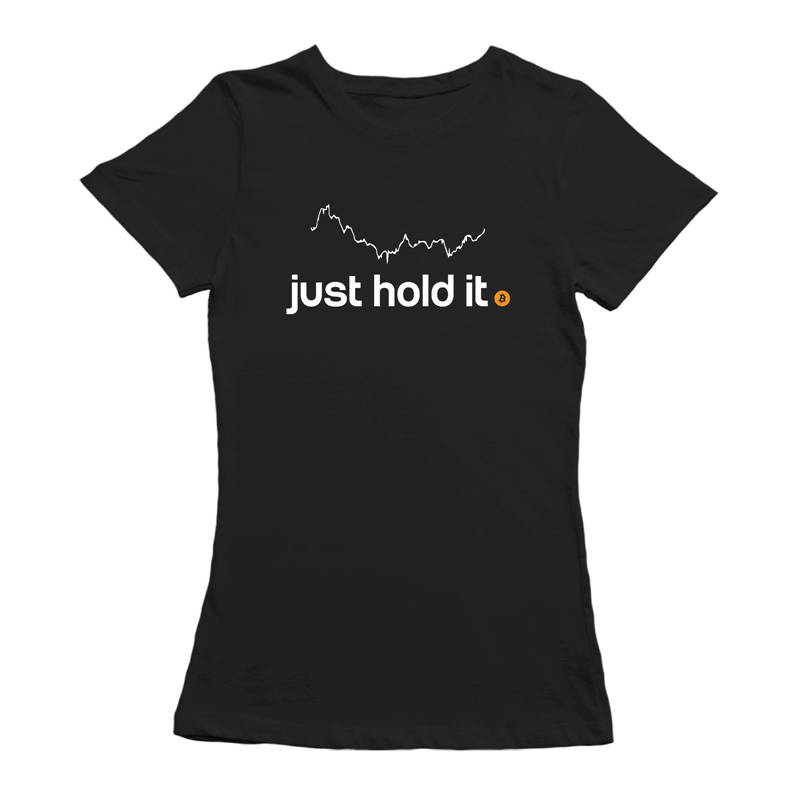 100% Cotton Geek Family Top Tee Crew Neck Women Just Hold Bitcoin Short-Sleeve Summer Tee Shirt