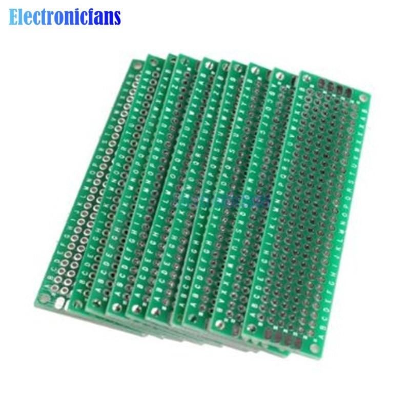 4Pcs//Lot 5x7 4x6 3x7 2x8 cm double Side Copper prototype PCB Universal Board Kit