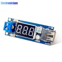 Automatic Protection! DC 4.5-40V To 5V 2A USB Charger LED Step-down Buck Converter Voltmeter Module Low Power(China)