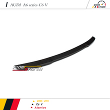 V Design style Carbon Fiber Auto Tuning Spare Parts Car racing kit Rear Wing Spoiler for audi A6 C6 2009-2012