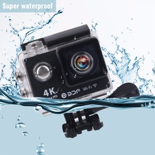 Professional H9 Outdoor 30M Super Waterproof Sport Action Camera Ultra HD 4K 1080P WIFI Sport Action Camera Drop Shipping