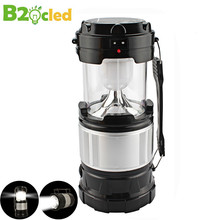 Large flashlight Solar charging camping lantern camping lantern Portable lamp Outdoor lighting emergency power Old man lamp