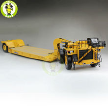 1/50 CAT Caterpillar 55220 784C Tractor With Towhaul Classic Lowboy Trailer Diecast Model Car Truck Yellow