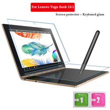 For Lenovo Yoga Book 10.1 Inch Tempered Glass + Keyboard Glass Screen Protect Tablet PC Film 2.5D Edge 9H Transparent Ultra-thin