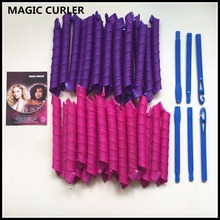 2017 New 40pcs/set 55cm long Magic Hair Curlers new Magic Hair Roller with diameter 2.5cm easy use diy curls hair curler rollers