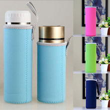 Fshion Travel Portable Solid Color Bottle Holder Warmer Cooler Bag Carrier 4 Sizes Water Bottle Cover Accessories
