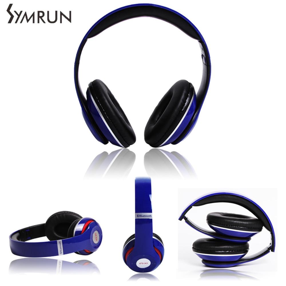 Symrun Wireless Bluetooth Earphone Foldable Headphones Support TF FM Radio For Smart Phones Foldable Bluetooth Headphone Headset<br><br>Aliexpress