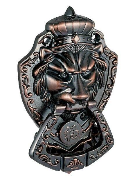Кнопка Ручки Напряжения Головы Льва бронзы Аппаратных средств Шкафов ящиков (Sizes:175mm * 110 мм, Кольцо size:70mm*95mm)