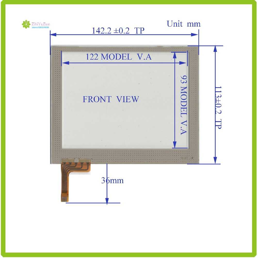 ZhiYuSun 142mm*113mm TR5-057F touch sensor NEW 5.7inch 5line touch panel glass 141*113  forIndustrial application made in taiwan<br>
