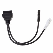 New 2X2 pin To 16 Pin Female OBD2 Diagnostic Connector Adaptor Cable For VW Audi T Skoda Suit VAG KKL USB Interface Cable C45(China)