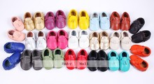 Aliexpress baby kids Genuine Leather soft baby boy shoes First Walkers Toddler baby moccasins Infant fringe Shoes(Chile)
