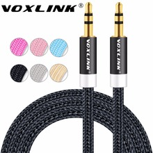 VOXLINK 3ft/1m 3.5 mm Jack Audio Cable for iPhone 6 6s 3.5mm AUX Auxiliary Cord Male to Male Stereo Audio Cable For CAR MP3/MP4