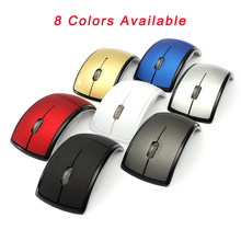 Hot Selling Updated Version mouse computer 2.4G optical wireless mouse Folding Optical Mice USB Receiver for Laptop PC Computer(China)