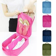 3 Layers Travel Nylon Shoes Bag Case Keeper Beam Port Shopping Bags Travel Clothes Shoes Bra Bag(China)