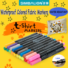 simbalion Fabric markers for clothes 1mm fine piont nib Textile marker waterproof phosphorescent paint alcohol draw liners comic