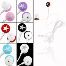 YCDC For HTC LG Samsung 4 Color 3.5mm Universal Cute Star In-ear Headset Earphone Earbud Phone Headphone EH1028
