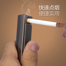 usb rechargeable lighter wind state in creative multifunction ultra-thin gentleman personality cigarette lighter gift(China)
