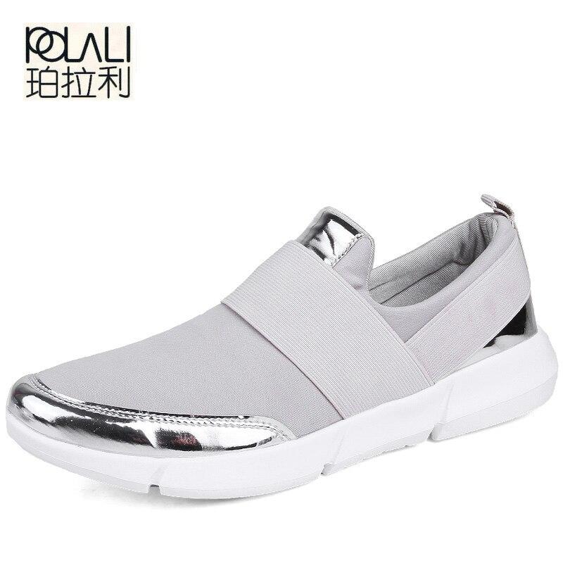 POLALI Women Casual Shoes Female Platform Shoes Women Slipony Krasovki Tenis Feminino Ladies Shoes Flats Zapatillas Mujer