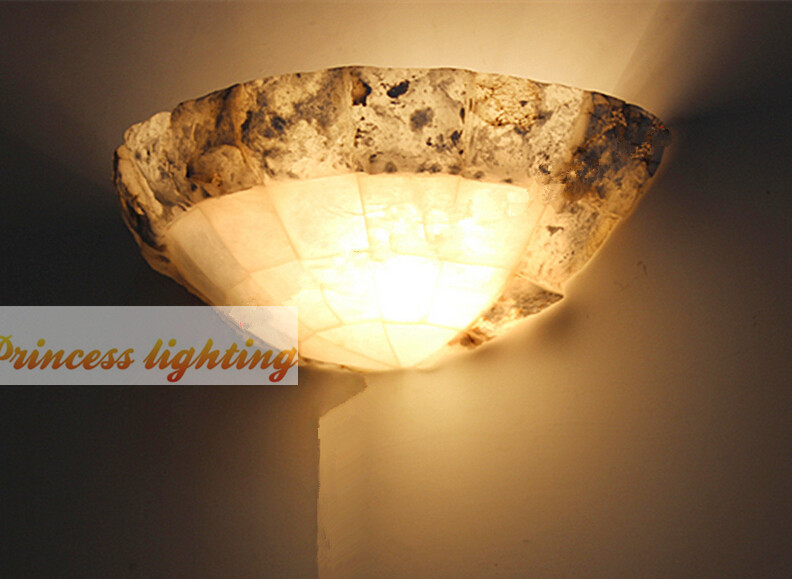 living room bedroom bedside wall lamp marble hallway wall lamp, E27,size: 30*12*15CM, AC110-240V.<br><br>Aliexpress