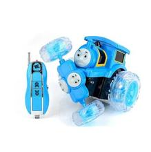 2 Types Red and Blue Thomas and Friends Electrical Alloy PVC Car with Lighting and Music Battery including Kids Best Gifts