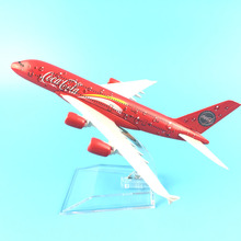 FREE SHIPPING 16CM COCA COLA A380 ,METAL ALLOY MODEL PLANE AIRCRAFT TOY AIRPLANE BIRTHDAY GIFT(China)