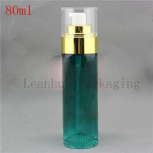 80ml X 12PC Green Airless Pump Bottle,Cream Jars Cosmetic Packaging,Women's Beauty &Skin Care ,2017 New Top Hot Sell Fashion