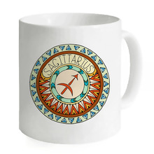 Sagittarius Circle Art Zodiac Cancer Ceramic 11oz Coffee Mug Hot Milk Cup Juice Travel Home Office White Cups Creative Water Mug