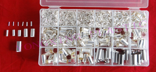 2107PCS/Lot naked insulated terminall block wire ferrules connector 12 size mixed from 22-1AWG<br><br>Aliexpress